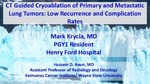 CT Guided Cryoablation of Primary and Metastatic Lung Tumors: Low Recurrence and Complication Rates by Mark Krycia and Hussein D. Aoun