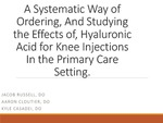 A Systematic Way of Ordering Hyaluronic Acid for Knee Injections in the Primary Care Setting by Jacob Russell, Aaron Cloutier, and Kyle Casadei